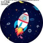 Adesivo para latinhas Astronauta