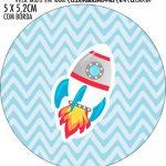 Adesivo para latinhas Astronauta Cute