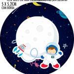 Adesivo para tubetes Astronauta