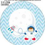 Adesivo para tubetes Astronauta Cute