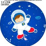 Adesivo redondo Astronauta