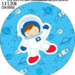 Adesivo redondo Astronauta Cute