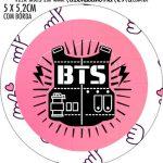 Adesivo redondo personalizado BTS Anime