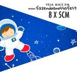 Bandeirinha Sanduiche para imprimir Astronauta