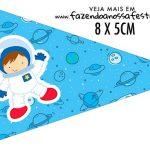 Bandeirinha Sanduiche personalizado Astronauta Cute
