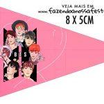 Bandeirinha Sanduiche para imprimir BTS Anime
