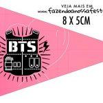 Bandeirinha Sanduiche personalizado BTS Anime
