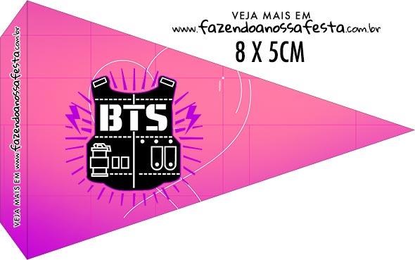 Bandeirinha Sanduiche personalizado BTS