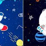 Bandeirinha de Dois Lados Astronauta