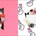 Bandeirinha de Dois Lados BTS Anime