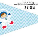 Bandeirinha para sanduiche Astronauta Cute