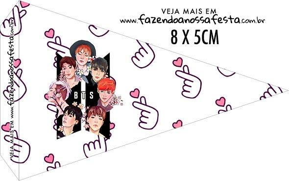 Bandeirinha para sanduiche BTS Anime