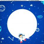 Bandeirola personalizada Astronauta