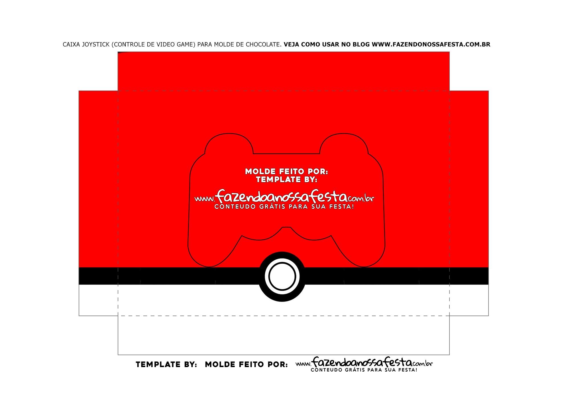 Berco Caixa Controle de Chocolate Pequeno Pokemon