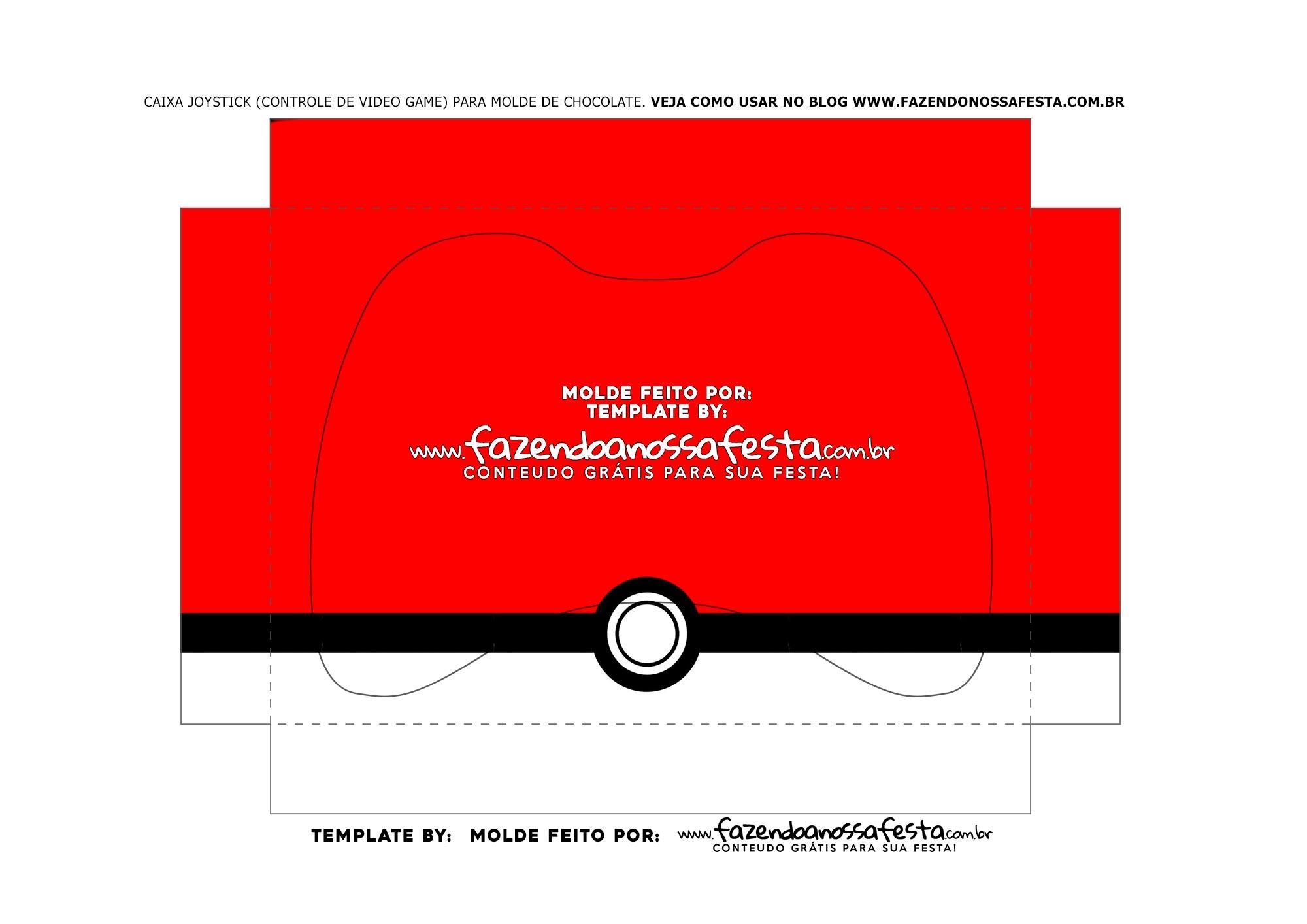 Berco Caixa Controle de Chocolate Xbox Pokemon