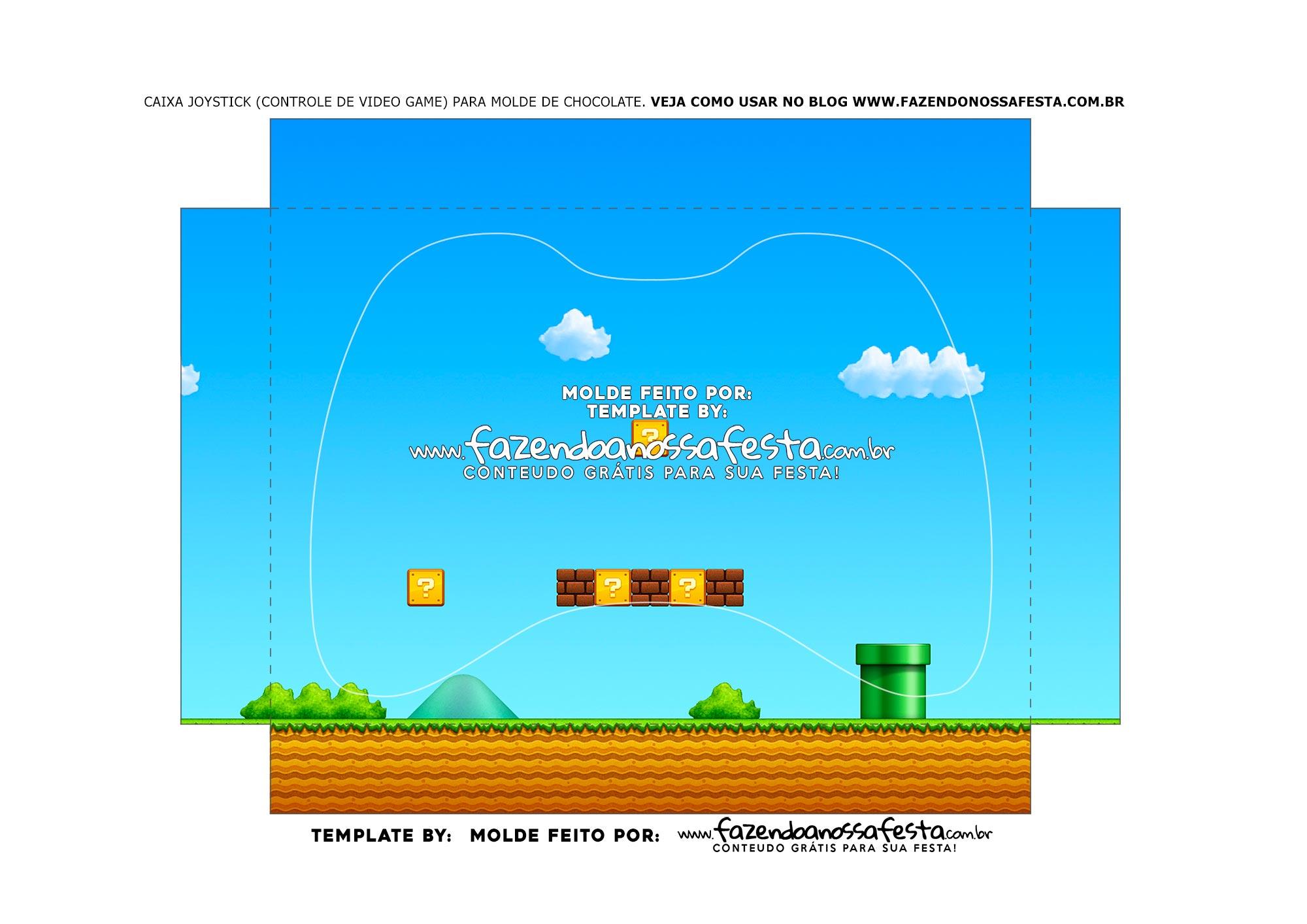 Berco Caixa Controle de Chocolate Xbox Super Mario