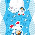 Caixa Almofada bolsinha Astronauta Cute