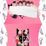 Caixa Almofada bolsinha BTS Anime