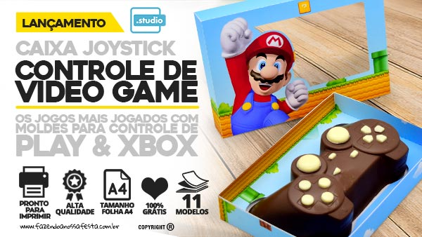 Caixa Controle Video Game Pascoa Blog