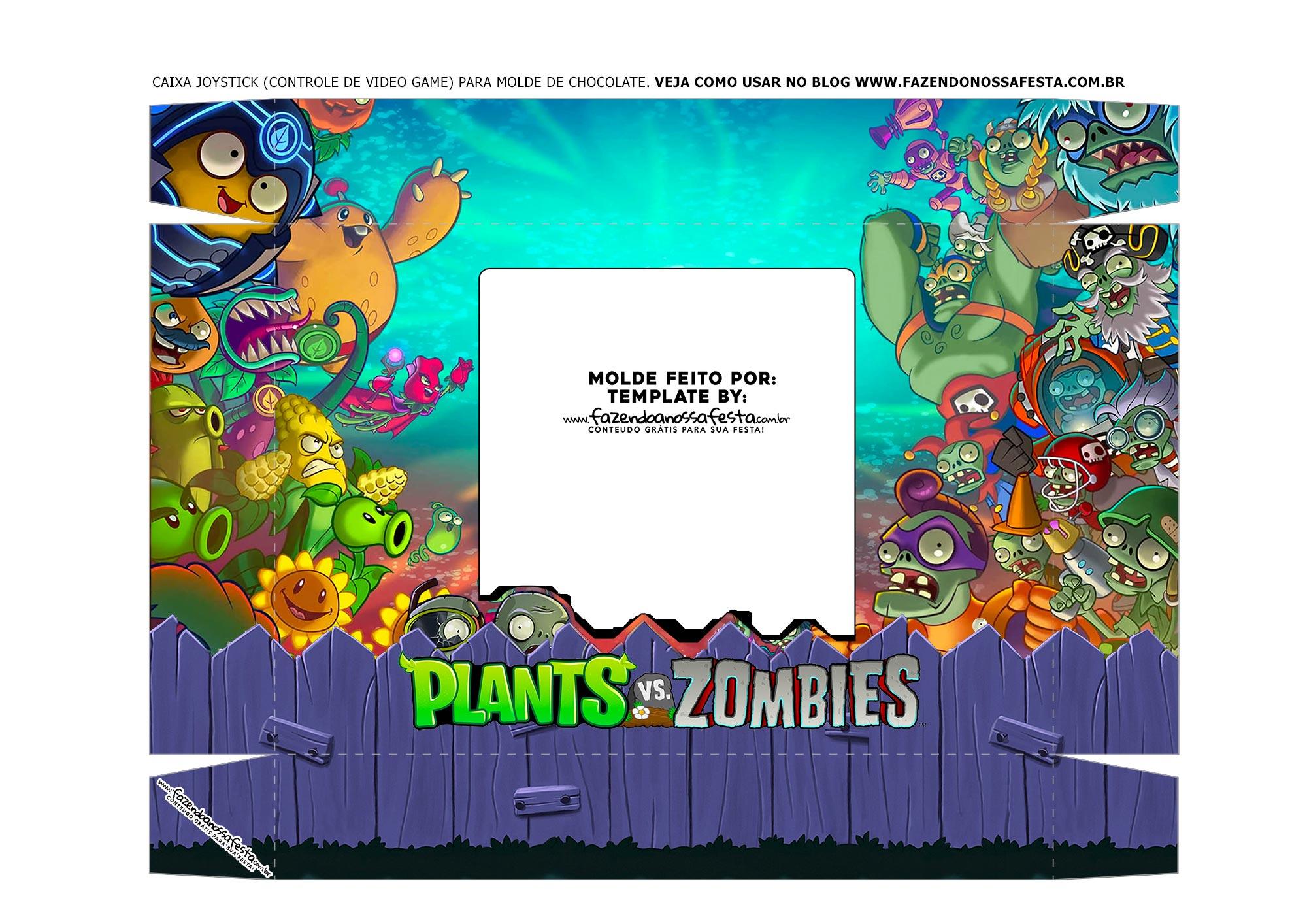 Caixa Controle de Video Game Tampa Plants
