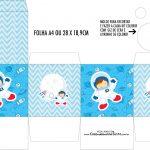 Caixa Kit Colorir Astronauta Cute