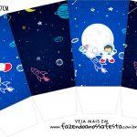 Caixa Pipoca Astronauta