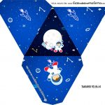 Caixa Piramide Personalizada Astronauta