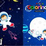 Capa Livrinho para Colorir Astronauta