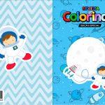 Capa Livrinho para Colorir Astronauta Cute