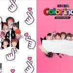 Capa Livrinho para Colorir BTS Anime