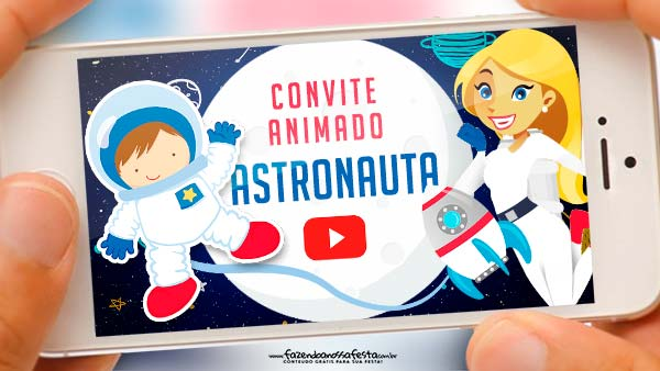 Convite Animado Astronauta
