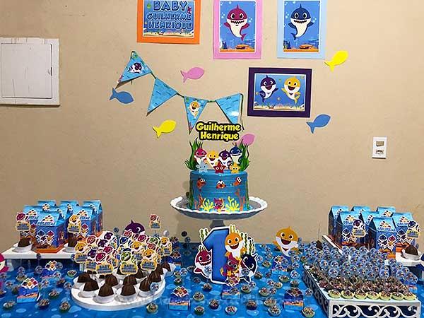 Festa Baby Shark da leitora Elida Souza 4