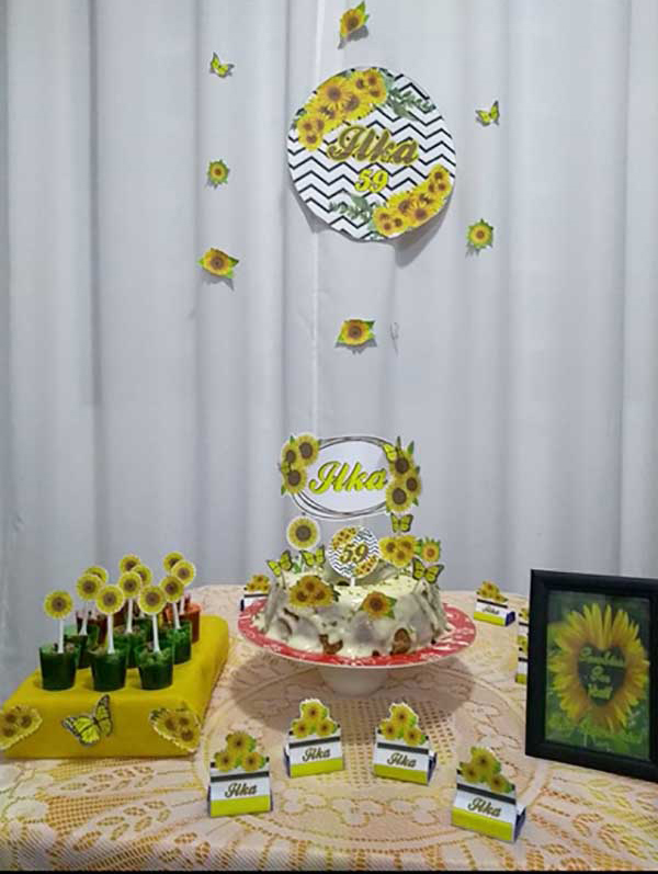 Festa Girassol da leitora Tatiana L Andrade