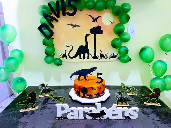 Festa em casa na Quarentena Tema Dinossauro