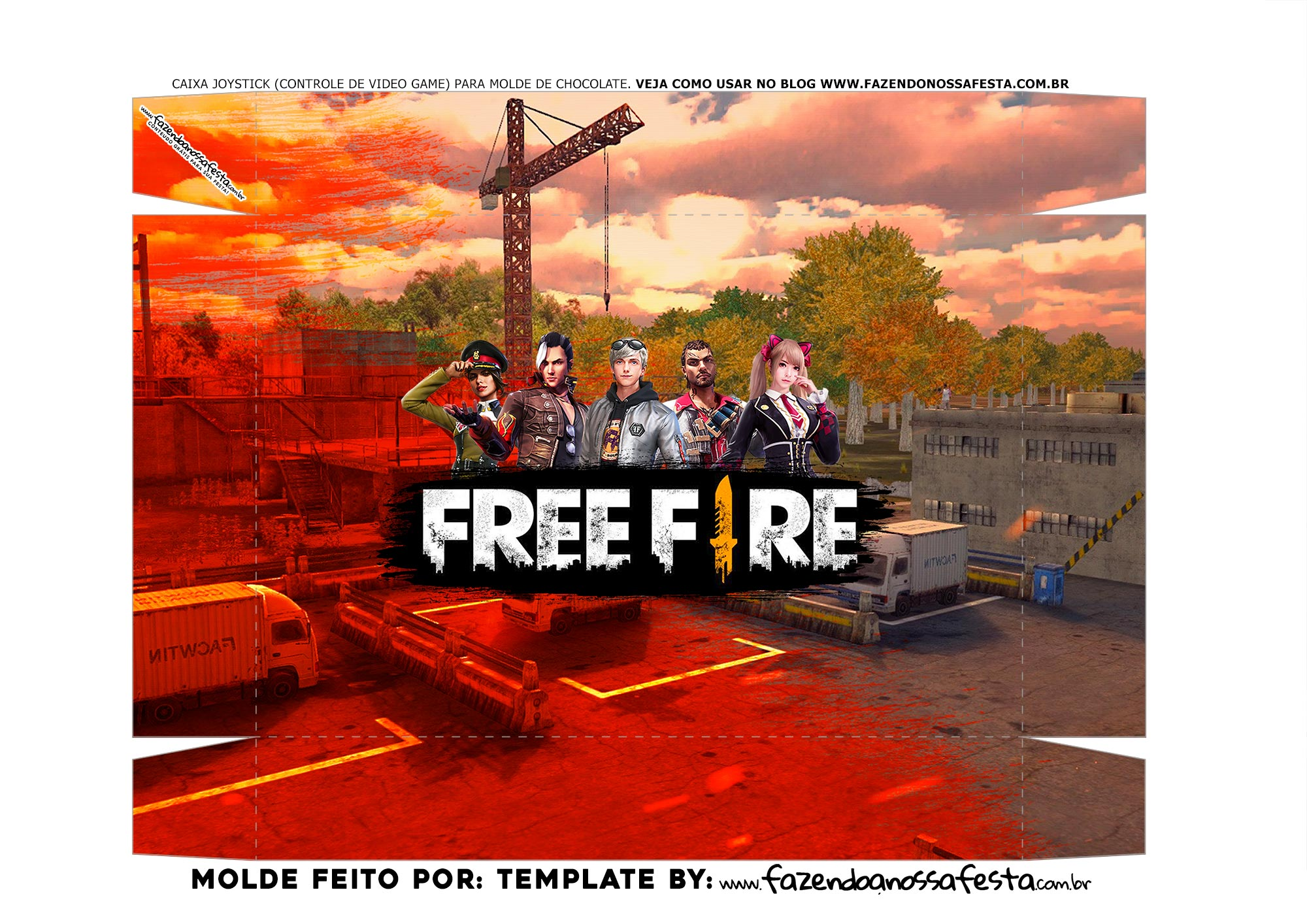 Fundo Caixa Joystick Free Fire