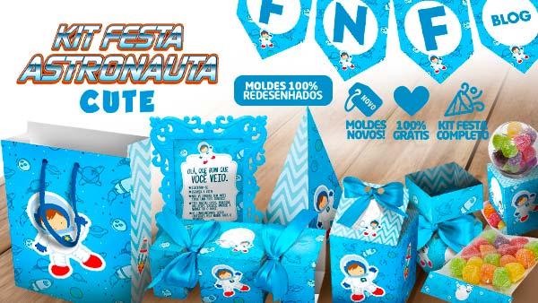 Kit Festa Astronauta Cute gratis
