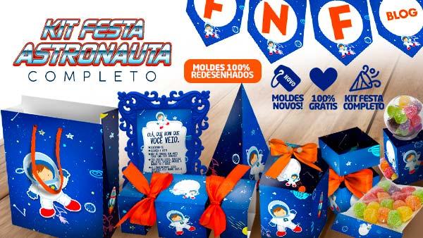 Kit Festa Astronauta gratis