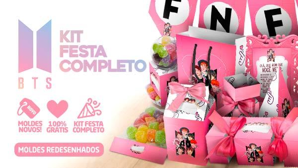 Kit Festa BTS Anime para imprimir