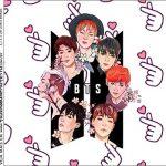 Molde Caixa Acrilica BTS Anime