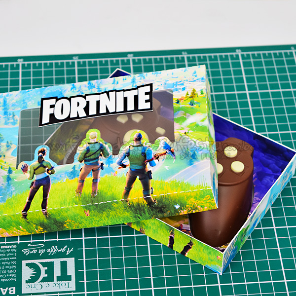 Molde Caixa Fortnite Impressa