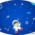 Placa Elipse Astronauta