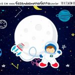 Plaquinha de Comida Astronauta
