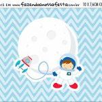 Plaquinha de Comida Astronauta Cute