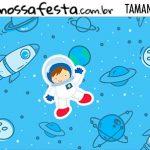 Rotulo Astronauta Cute