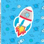 Rotulo Caixa Acrilica Astronauta Cute