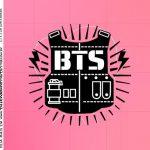 Rotulo Caixa Acrilica BTS Anime