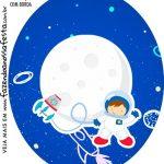 Rotulo Oval Astronauta