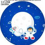 Rotulo Redondo Astronauta