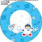 Rotulo Redondo Astronauta Cute