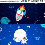Rotulo Saquinho de Bala Astronauta